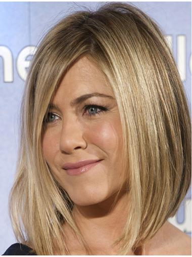 "12"" Blonde Lace Front Straight Jennifer Aniston Wigs"