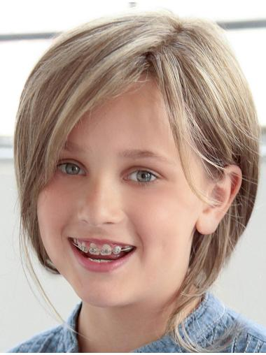 """12"""" Affordable Blonde Kids Wigs"""