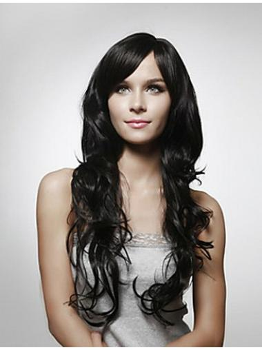 Black Curly Online Remy Human Hair Wigs