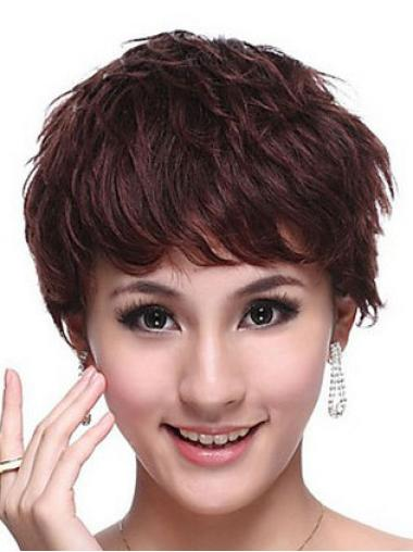 Auburn Curly Hairstyles Remy Human Hair Wigs