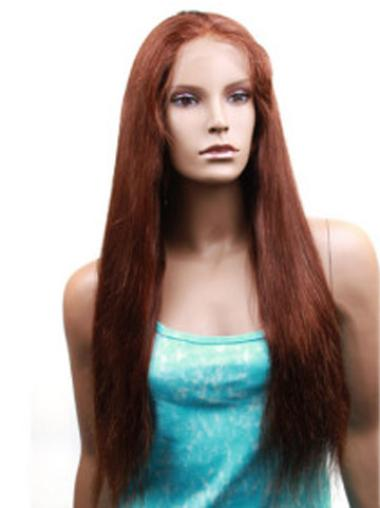 Auburn Straight Best Remy Human Hair Wigs