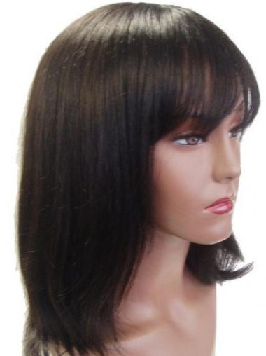 Brown Straight Best Remy Human Hair Wigs