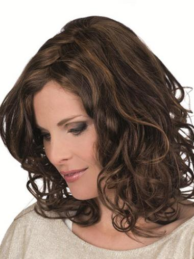 Brown Curly Incredible Remy Human Hair Wigs