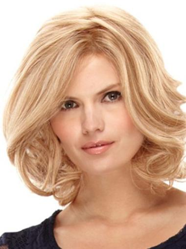 Blonde Curly Online Remy Human Hair Wigs