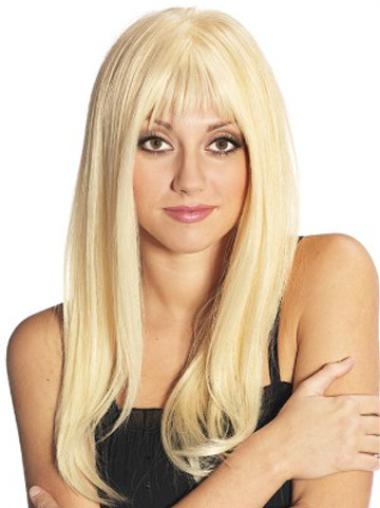 Blonde Straight Popular Remy Human Hair Wigs