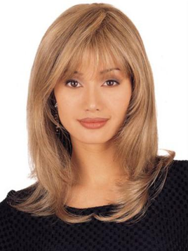 Blonde Straight No-fuss Remy Human Hair Wigs