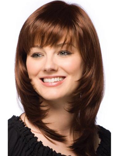 Auburn Straight Durable Remy Human Hair Wigs