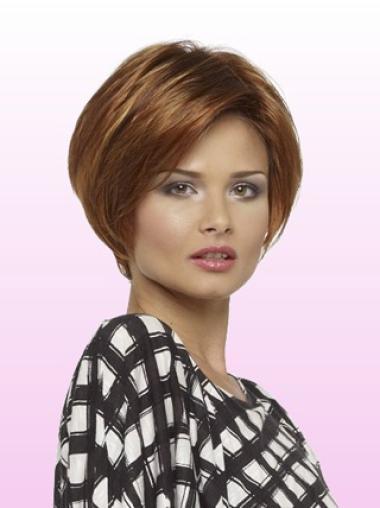 Auburn Straight Discount Remy Human Hair Wigs