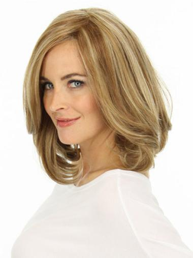 Blonde Wavy New Remy Human Hair Wigs