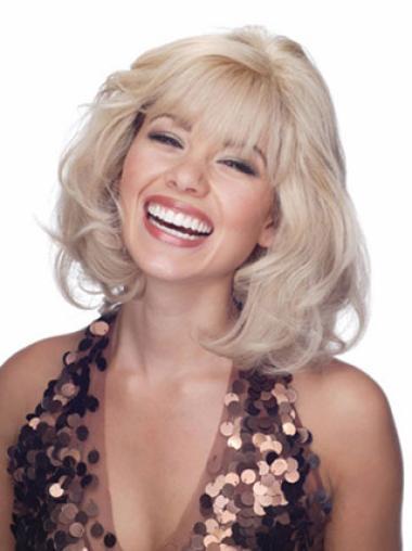 Blonde Wavy Online Remy Human Hair Wigs