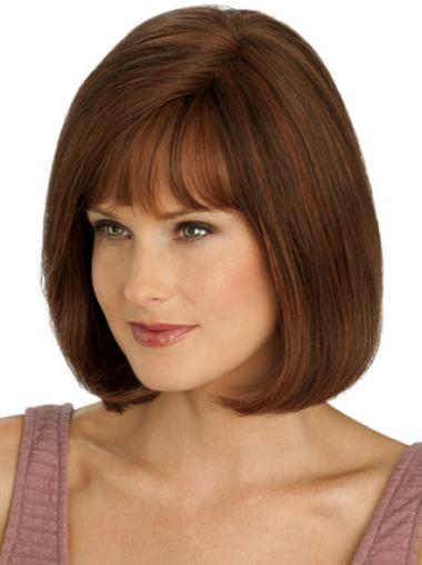 Auburn Straight Style Remy Human Hair Wigs