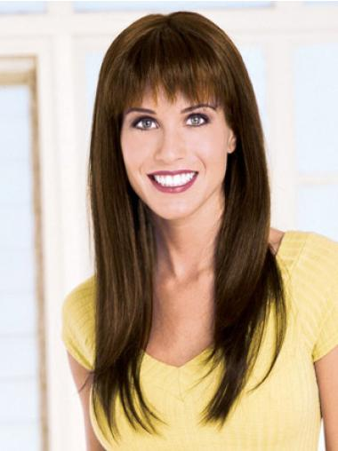 Brown Straight 2014 Remy Human Hair Wigs