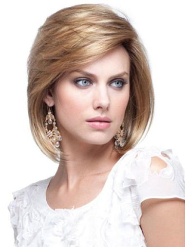 Straight Fashionable Remy Human Hair Wigs