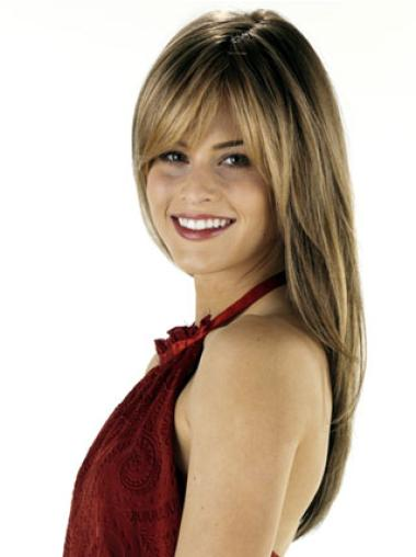 Brown Straight Popular Remy Human Hair Wigs