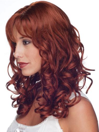 Red Curly Great Remy Human Hair Wigs