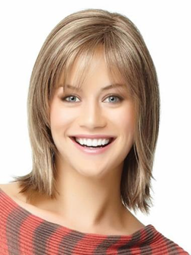 Capless Remy Human Hair Soft Wigs