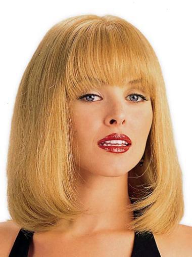 Monofilament Remy Human Hair Fashion Wigs