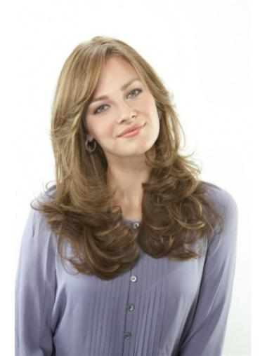 "Convenient Blonde Lace Front Wavy 20"" Human Hair Wigs"