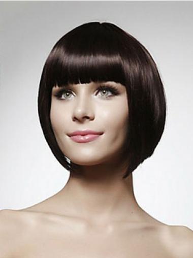 Auburn Straight Popular Remy Human Hair Wigs