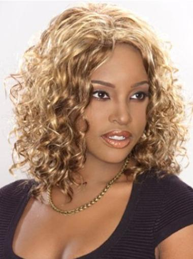 Lace Front Synthetic Sassy Medium Curly Wigs