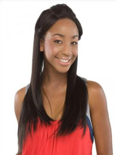 """Lace Front Remy Human Hair Modern 20"""" Straight Wigs"""