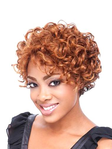 Lace Front Synthetic Beautiful Short Curly Wigs