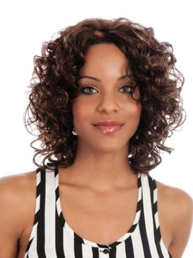 Lace Front Synthetic High Quality Medium Curly Wigs