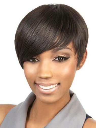 Capless Synthetic Beautiful Short Straight Wigs