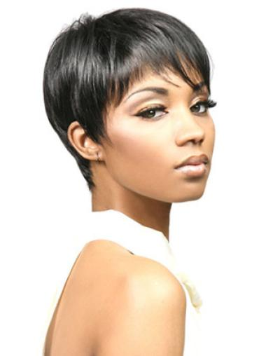 Capless Synthetic Style Short Straight Wigs