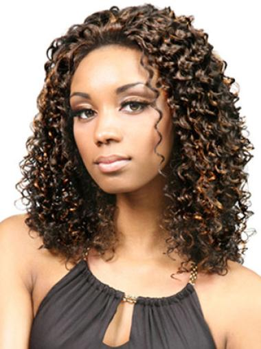 Lace Front Synthetic Good Medium Curly Wigs