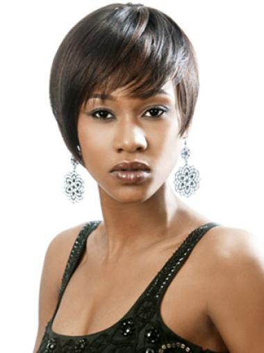 Capless Synthetic Ideal Short Straight Wigs