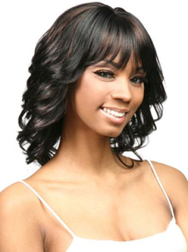 Capless Synthetic Perfect Medium Curly Wigs