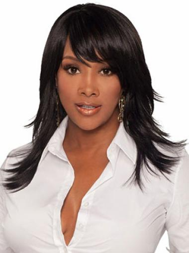 Capless Synthetic Classy Long Straight Wigs