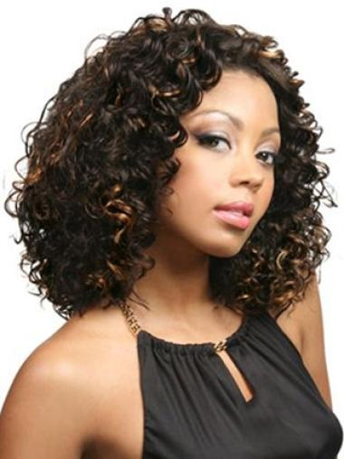 "Lace Front Synthetic Great 14"" Curly Wigs"