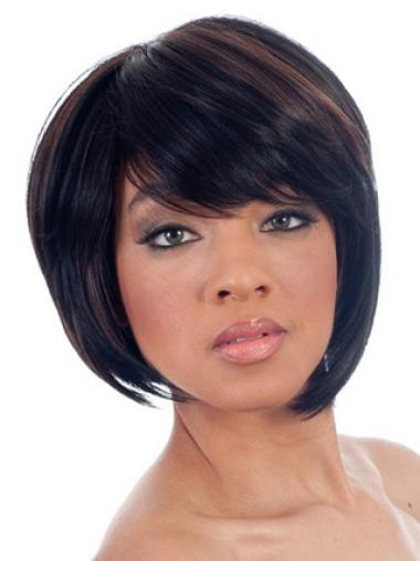 Capless Synthetic Soft Short Straight Wigs