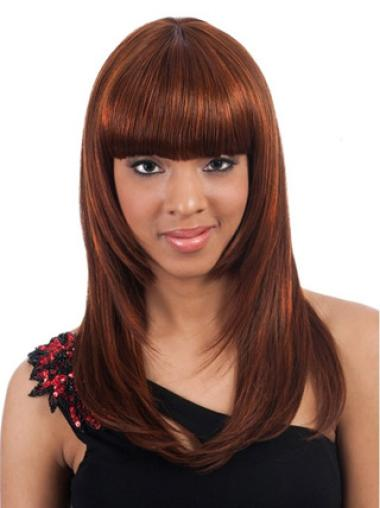 "Capless Synthetic Affordable 20"" Straight Wigs"
