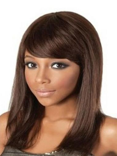 "Capless Remy Human Hair Hairstyles 14"" Straight Wigs"