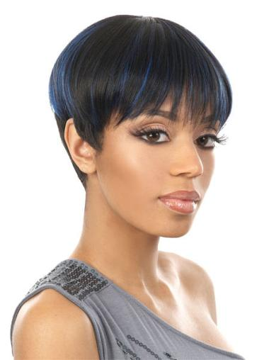 Capless Synthetic Cheap Short Straight Wigs