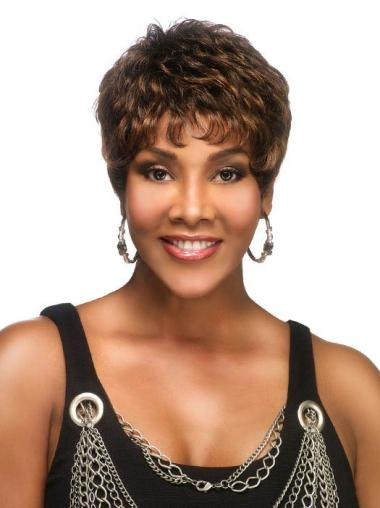 Lace Front Synthetic Good Short Wavy Wigs