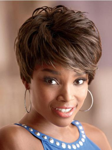 Capless Synthetic Suitable Short Straight Wigs