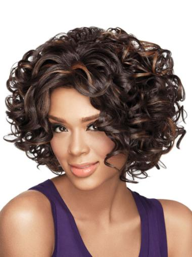 Sassy Short Curly Capless African American Wigs