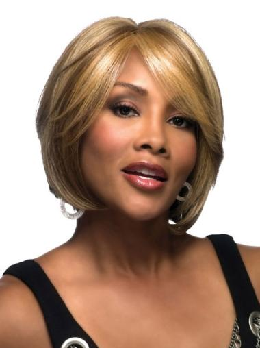 Trendy Short Straight Lace Front African American Wigs