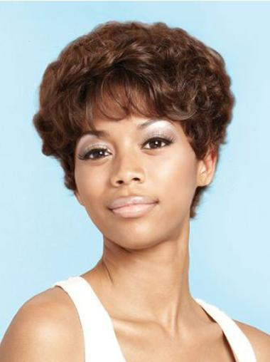 Modern Short Curly Capless African American Wigs
