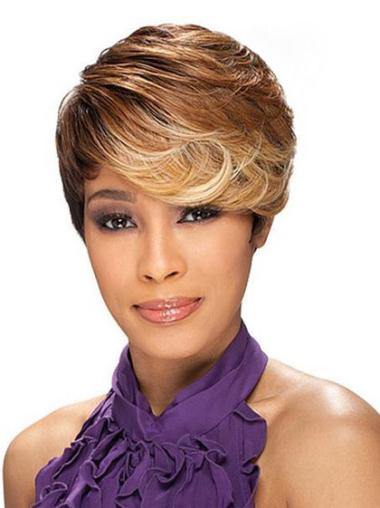 High Quality Short Wavy Capless African American Wigs