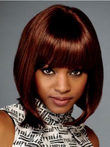 """Cheap 10"""" Straight Lace Front African American Wigs"""