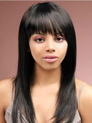 """Good 16"""" Straight Capless African American Wigs"""
