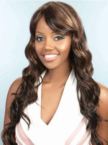 Perfect Long Wavy Capless African American Wigs