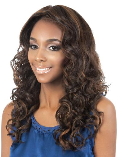 Fashion Long Curly Capless African American Wigs