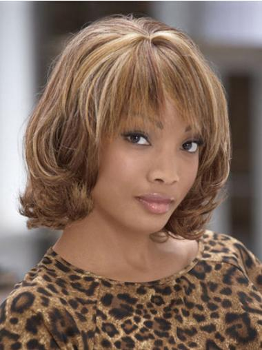 Fashion Medium Curly Capless African American Wigs