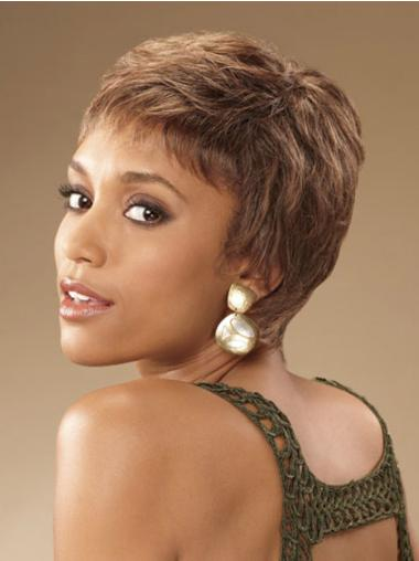 Perfect Short Curly Capless African American Wigs